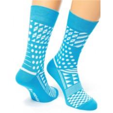 Бирюзовые носки Geometric Friday