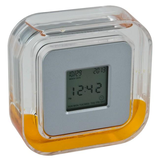 Часы настольные с подсветкой, оранжевые