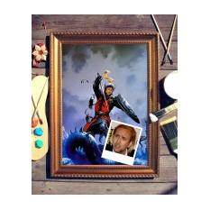 Портрет по фото Рыцарь-победитель драконов