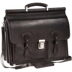 Черный портфель Viaggi с красной отделкой