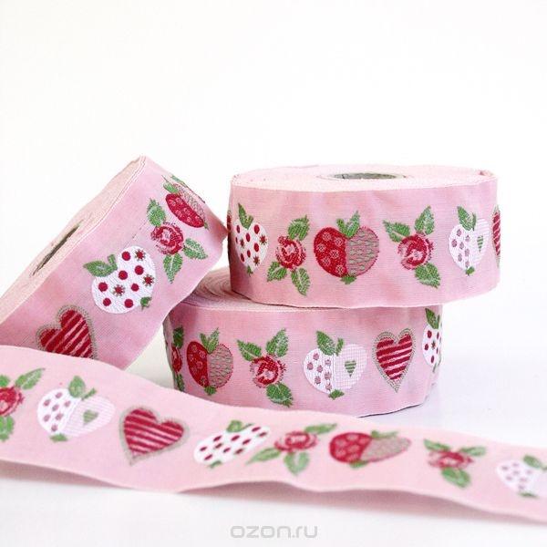 Тесьма декоративная Яблоки и розы
