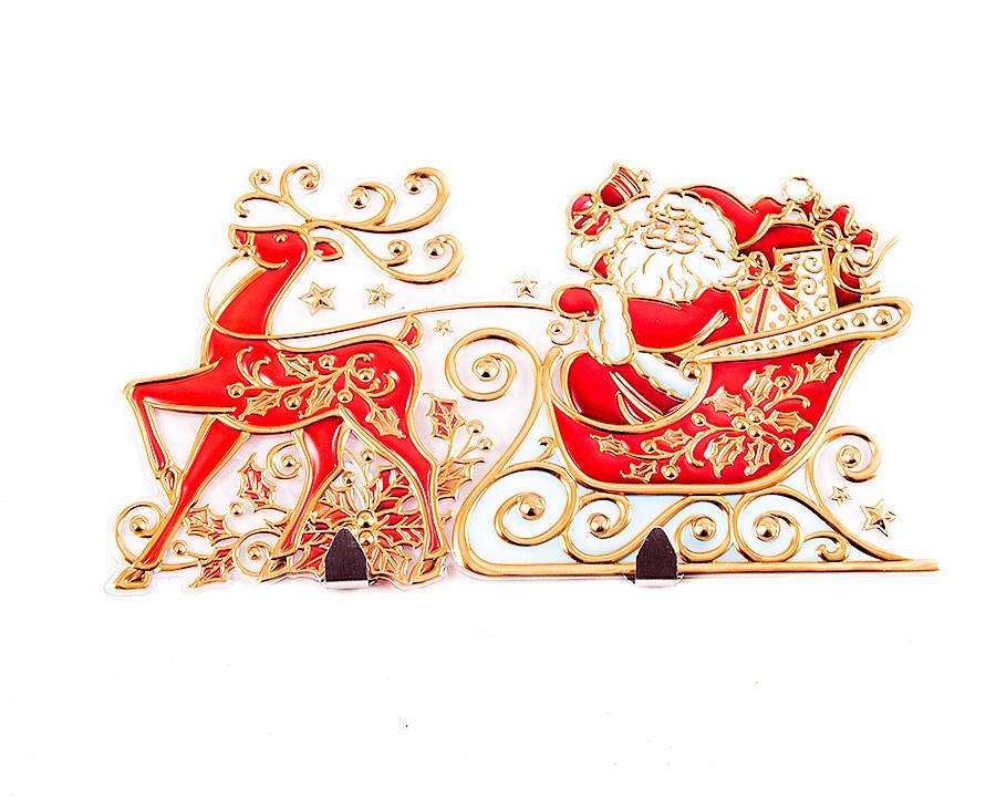 Декоративная наклейка Новогодняя (45х26 см)
