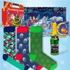 Набор с дизайнерскими носками «Зимний»