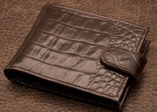 Портмоне Cayman (коричневый, крокодил; тип 1; нат. кожа)
