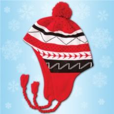 Красная зимняя шапочка
