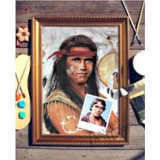 Портрет по фото Индеец