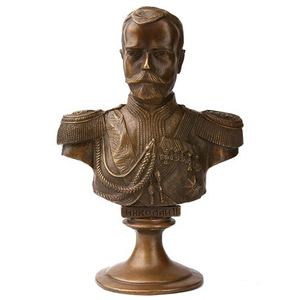 Бронзовый бюст «Николай II»