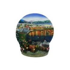 Тарелка декоративная Закат на берегу моря 3D