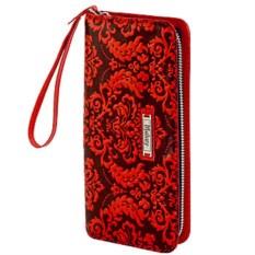 Женское кожаное портмоне с художественной росписью