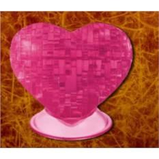 Головоломка 3D пазл Светящееся розовое сердце