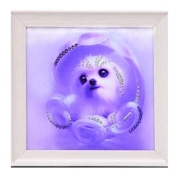 Картина с кристаллами Сваровски Лапа моя
