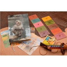 Кожаный белый ежедневник Милая снежная обезьянка