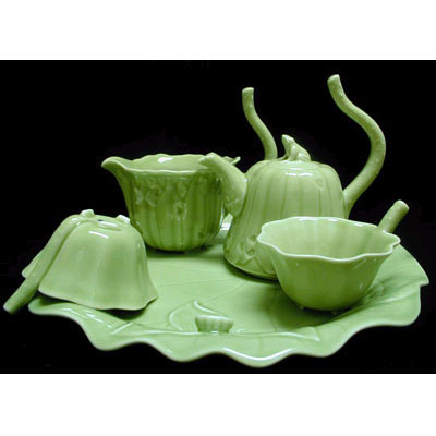 Чайный сервиз «Лягушка на лотосе»