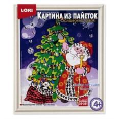 Картина «Новогодняя сказка» из пайеток Lori