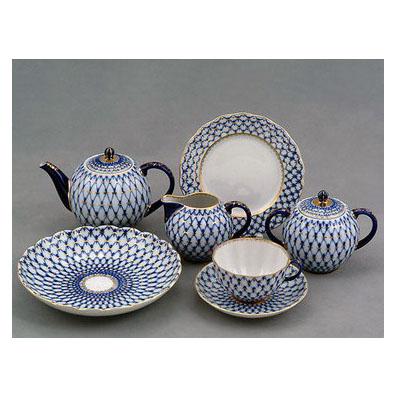 Сервиз чайный «Кобальтовая сетка»