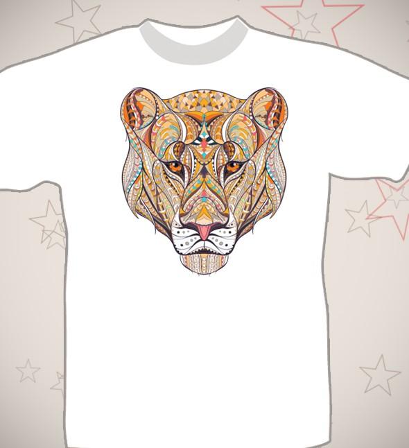 Подарочная футболка «Львица»