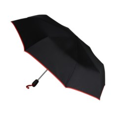 Складной автоматический зонт с красной окантовкой