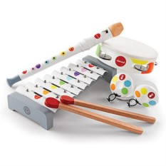 Набор белых музыкальных инструментов