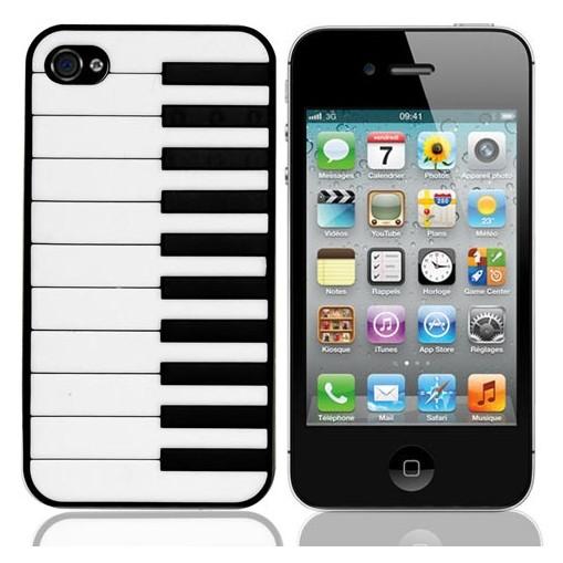 Чёрный чехол для iPhone 4/4S Пианино