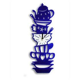 Настенные часы Посуда, синие