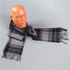 Светлый мужской шарф в клетку Halstech