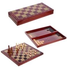Игра 3 в1 Шахматы, шашки, нарды , размер 29 х 14 х 5,5см