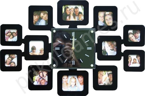Настенные часы-фоторамка В кругу семьи