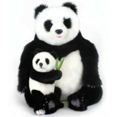 Мягкая игрушка Hansa Панда с детенышем, 75 см