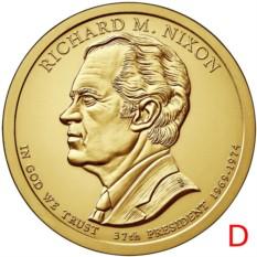 Монета 1 доллар 2016 Ричард Никсон (37-й президент США)