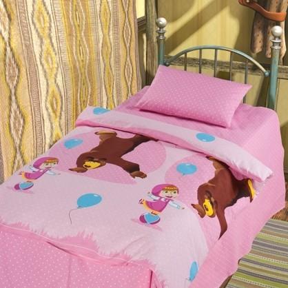 Комплект постельного белья Маша и Медведь - Цирк