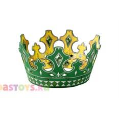 Детская корона короля (цвет: зеленый)