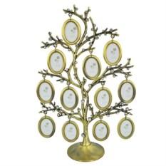 Фоторамка «Семейное дерево» бронзового цвета