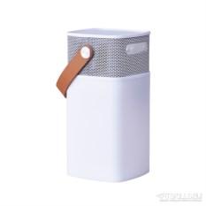 Белая беспроводная колонка с подсветкой aGLOW