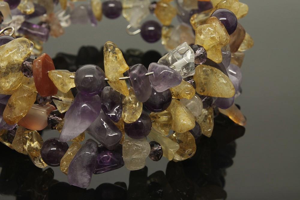 Браслет из натуральных камней «Лавандовый мёд»