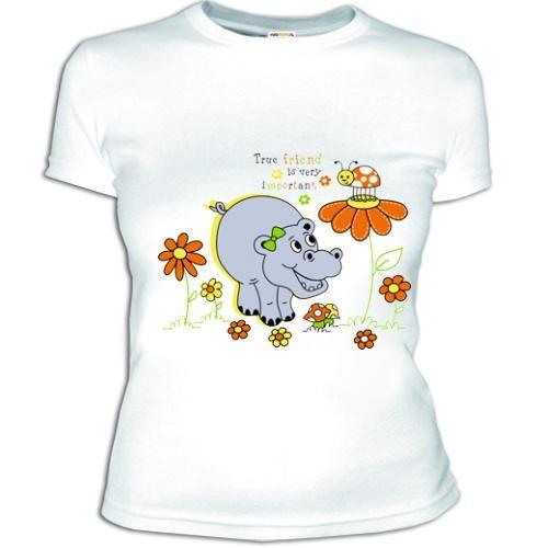 Женская футболка Бегемотик