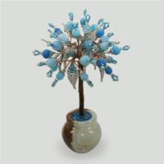 Дерево из голубого агата Спаси и сохрани