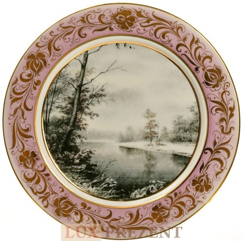 Сувенирная тарелка Зимний пейзаж