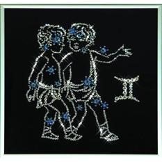 Хрустальная картина «Звёздные близнецы»