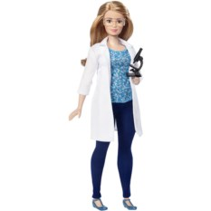 Кукла Barbie из серии Кем быть? (ученый)