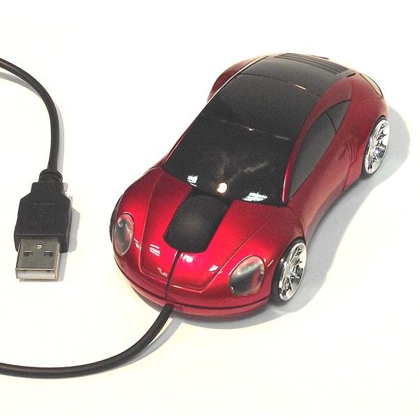 Компьютерная мышь для ПК в виде автомобиля, красная