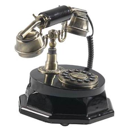Кнопочный ретро-телефон