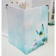 Обложка на паспорт Бабочки на голубом фоне