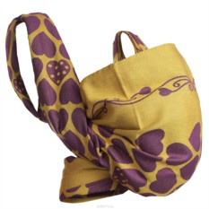 Фиолетово-желтый слинг-шарф Loving Hearts Grape