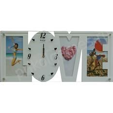 Настенные часы-фоторамка Love