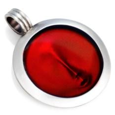 Круглая красная подвеска Лик Bico
