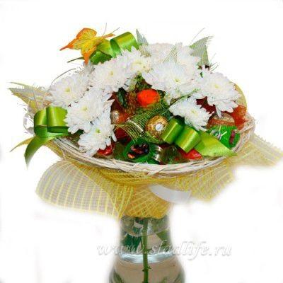 Букет из конфет Осенняя хризантема