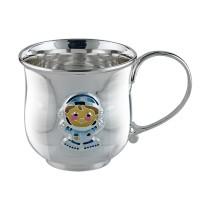 Детская серебряная кружка Космонавт