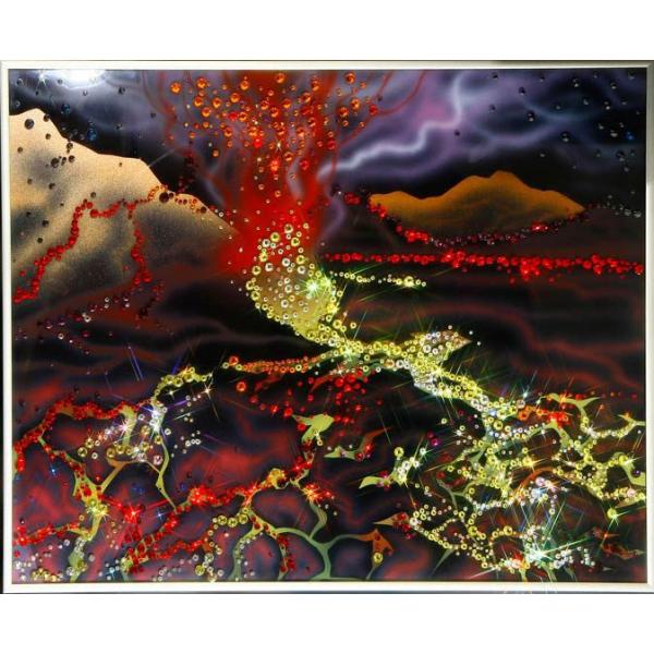 Картина «Извержение вулкана»