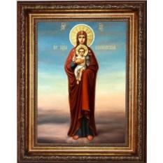 Валаамская икона Божьей Матери на холсте