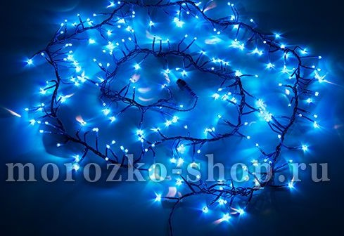 Электрогирлянда Фейерверк, 200 синих микроламп